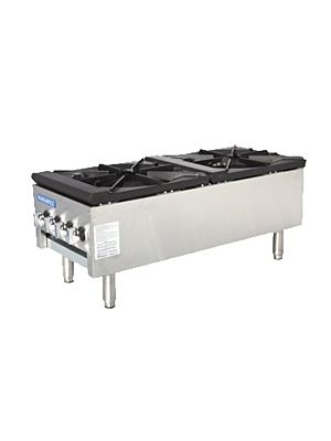 "Turbo Air TASP-18S-D 18"" Radiance Series Gas Stock Pot Burner with Storage Base – 158,000 BTU"