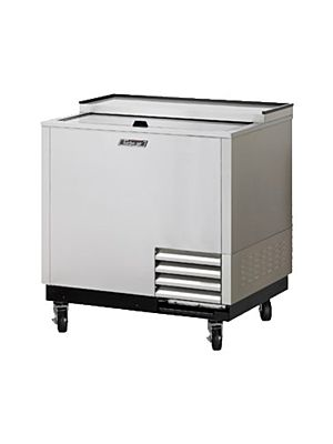 "Turbo Air TBC-36SD-GF-N 36"" Super Deluxe Stainless Steel Self-Contained Glass Chiller & Froster - FREE SHIPPING WITHOUT LIFTGATE"