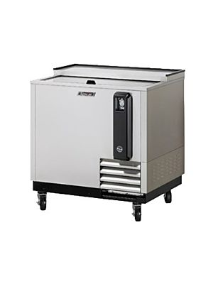 "Turbo Air TBC-36SD-N6 36"" Super Deluxe Stainless Steel Self-Contained Bottle Cooler - FREE SHIPPING WITHOUT LIFTGATE"