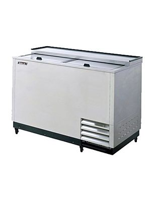 "Turbo Air TBC-50SD-GF-N 50"" Super Deluxe Stainless Steel Self-Contained Glass Chiller & Froster - FREE SHIPPING WITHOUT LIFTGATE"
