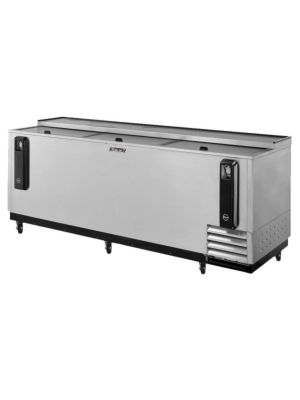 "Turbo Air TBC-95SD-N 95"" Super Deluxe Stainless Steel Self-Contained Bottle Cooler - FREE SHIPPING WITHOUT LIFTGATE"