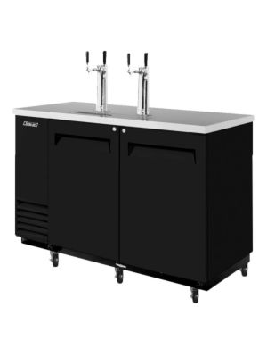 Turbo Air TBD-2SB-N6 Black Two-Keg Beer Dispenser - FREE SHIPPING WITHOUT LIFTGATE