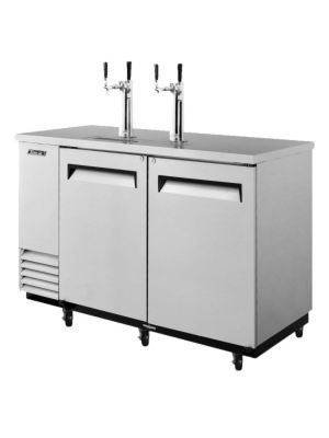 Turbo Air TBD-2SD-N6 Super Deluxe Stainless Steel Two-Keg Beer Dispenser - FREE SHIPPING WITHOUT LIFTGATE