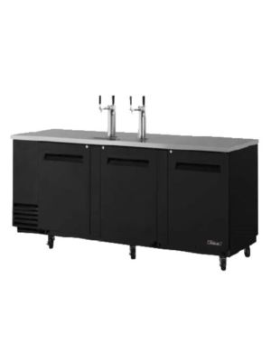 Turbo Air TBD-4SB-N Black Four-Keg Beer Dispenser - FREE SHIPPING WITHOUT LIFTGATE