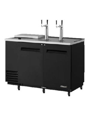 Turbo Air TCB-2SB-N6 Black Two-Keg Club Top Beer Dispenser/Cooler - FREE SHIPPING WITHOUT LIFTGATE