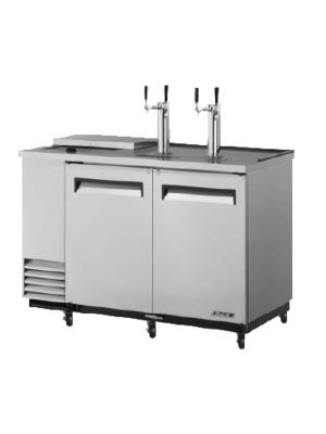 Turbo Air TCB-2SD-N6 Super Deluxe Stainless Steel Two-Keg Club Top Beer Dispenser/Cooler - FREE SHIPPING WITHOUT LIFTGATE