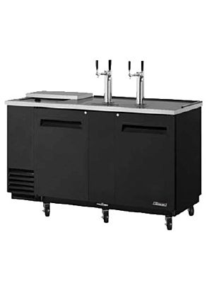 Turbo Air TCB-3SB-N6 Black Three-Keg Club Top Beer Dispenser/Cooler - FREE SHIPPING WITHOUT LIFTGATE