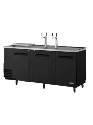 Turbo Air TCB-4SB-N Black Four-Keg Club Top Beer Dispenser/Cooler - FREE SHIPPING WITHOUT LIFTGATE