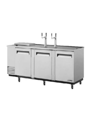 Turbo Air TCB-4SD-N Super Deluxe Stainless Steel Four-Keg Club Top Beer Dispenser/Cooler - FREE SHIPPING WITHOUT LIFTGATE
