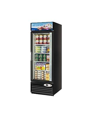 Turbo Air TGF-23FB-N Black One-Section Glass Door Freezer Merchandiser - FREE SHIPPING WITHOUT LIFTGATE