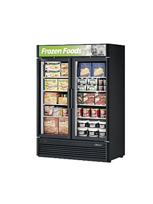 Turbo Air TGF-47SD-N Super Deluxe Two-Section Glass Merchandiser Freezer - FREE SHIPPING WITHOUT LIFTGATE