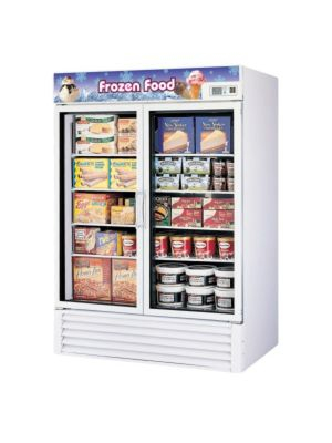 Turbo Air TGF-49F-N Two-Section Glass Door Freezer Merchandiser - FREE SHIPPING WITHOUT LIFTGATE