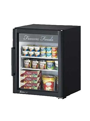 Turbo Air TGF-5SD-N Super Deluxe Countertop One-Section Glass Merchandiser Freezer - FREE SHIPPING WITHOUT LIFTGATE