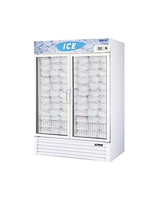Turbo Air TGIM-49W-N Two-Section Glass Door Ice Merchandiser - FREE SHIPPING WITHOUT LIFTGATE