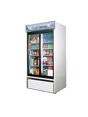 Turbo Air TGM-35R-N Sliding Glass Door Refrigerated Merchandiser - FREE SHIPPING WITHOUT LIFTGATE