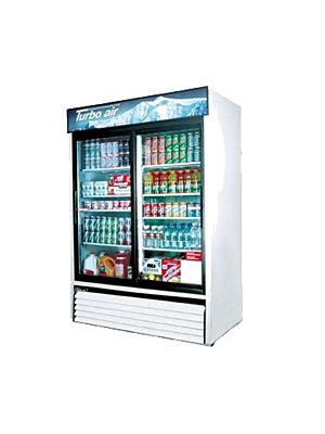 Turbo Air TGM-48R-N Sliding Glass Door Refrigerated Merchandiser - FREE SHIPPING WITHOUT LIFTGATE