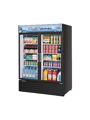 Turbo Air TGM-50RSB-N Black Glass Door Refrigerated Merchandiser - FREE SHIPPING WITHOUT LIFTGATE