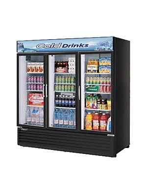 Turbo Air TGM-72RSB-N Glass Door Refrigerated Merchandiser - FREE SHIPPING WITHOUT LIFTGATE