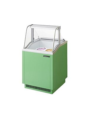 "Turbo Air TIDC-26G-N Green 26""W Ice Cream Dipping Cabinet - FREE SHIPPING WITHOUT LIFTGATE"