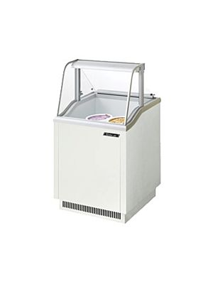 "Turbo Air TIDC-26W-N White 26""W Ice Cream Dipping Cabinet - FREE SHIPPING WITHOUT LIFTGATE"