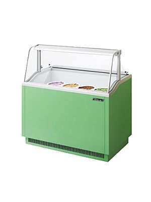 "Turbo Air TIDC-47G-N Green 47""W Ice Cream Dipping Cabinet - FREE SHIPPING WITHOUT LIFTGATE"