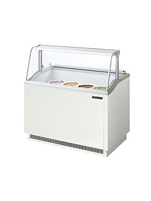 "Turbo Air TIDC-47W-N White 47""W Ice Cream Dipping Cabinet - FREE SHIPPING WITHOUT LIFTGATE"