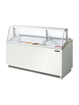 "Turbo Air TIDC-70W-N White 70""W Ice Cream Dipping Cabinet - FREE SHIPPING WITHOUT LIFTGATE"