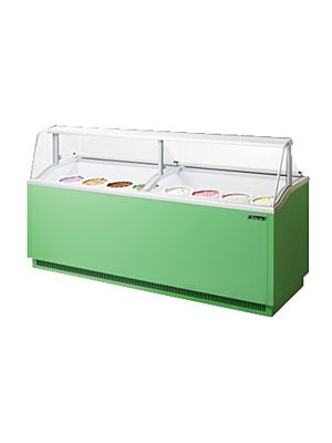 "Turbo Air TIDC-91G-N Green 91""W Ice Cream Dipping Cabinet - FREE SHIPPING WITHOUT LIFTGATE"