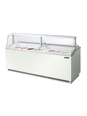 "Turbo Air TIDC-91W-N White 91""W Ice Cream Dipping Cabinet - FREE SHIPPING WITHOUT LIFTGATE"