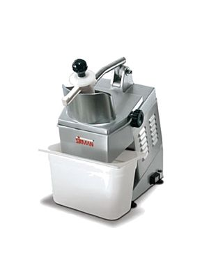 Sirman 40752558W6 TM A6 Electric Food Processor with Continuous Feed Operation with 4 Slicing Discs, 1 Shredding Disc, & 1 Dicing Disc