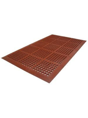 "Axia AFD3660TNR 36""x 60"" Red Slip Resistant Anti-Fatigue Floor Mat -3/8 Thick"