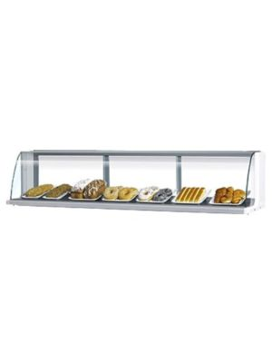 Turbo Air TOMD-75LB Black Non-Refrigerated Countertop Display Case - FREE SHIPPING WITHOUT LIFTGATE