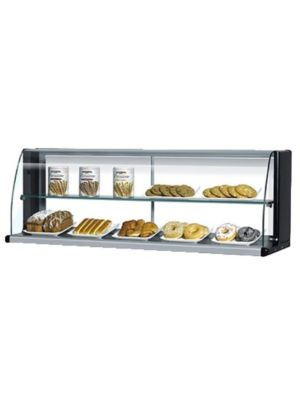 Turbo Air TOMD-75HB Black Non-Refrigerated Countertop Display Case - FREE SHIPPING WITHOUT LIFTGATE