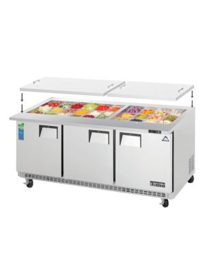 "Everest EOTP3 72"" Open Top Prep Table, Mega-Top, Three-Section   FREE SHIPPING W/O LIFTGATE"