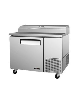 Turbo Air TPR-44SD-N One-Door Super Deluxe Pizza Prep Table with Refrigerated Counter - FREE SHIPPING WITHOUT LIFTGATE
