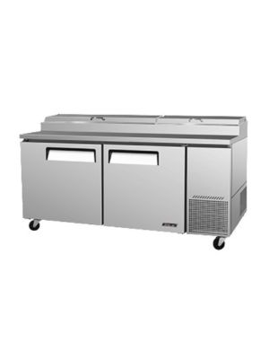 Turbo Air TPR-67SD-N Two-Door Super Deluxe Pizza Prep Table with Refrigerated Counter - FREE SHIPPING WITHOUT LIFTGATE