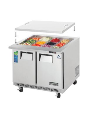 "Everest EOTPS2 36"" Open Top Prep Table, Mega-Top, Two-Section   FREE SHIPPING W/O LIFTGATE"