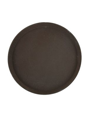 """Winco TRH-16 16"""" Brown Rubber Easy Hold Tray"""
