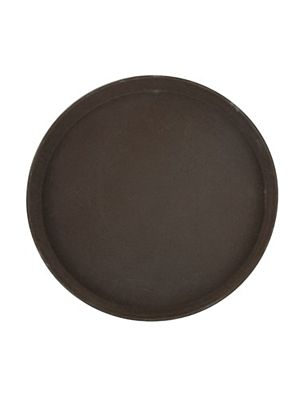 """Winco TRH-14 14"""" Brown Rubber Easy Hold Tray"""