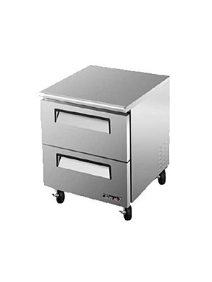 Turbo Air TUF-28SD-D2-N Two-Drawer Reach-In Super Deluxe Undercounter Freezer - FREE SHIPPING WITHOUT LIFTGATE
