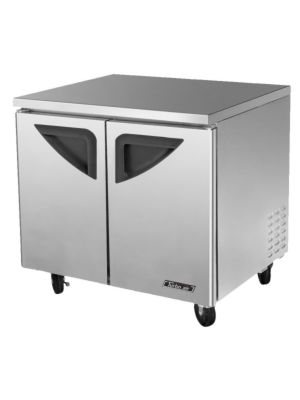 Turbo Air TUF-36SD-N Two-Door Reach-In Super Deluxe Undercounter Freezer - FREE SHIPPING WITHOUT LIFTGATE