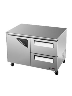Turbo Air TUF-48SD-D2-N One-Door, Two-Drawer Reach-In Super Deluxe Undercounter Freezer - FREE SHIPPING WITHOUT LIFTGATE