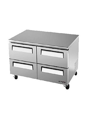 Turbo Air TUF-48SD-D4-N Four-Drawer Reach-In Super Deluxe Undercounter Freezer - FREE SHIPPING WITHOUT LIFTGATE