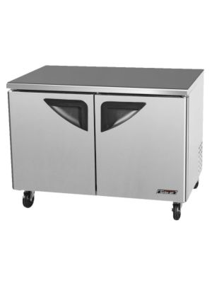 Turbo Air TUF-48SD-N Two-Door Reach-In Super Deluxe Undercounter Freezer - FREE SHIPPING WITHOUT LIFTGATE