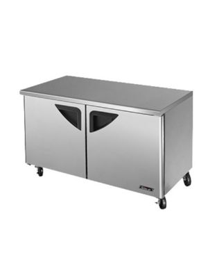 Turbo Air TUF-60SD-N Two-Door Reach-In Super Deluxe Undercounter Freezer - FREE SHIPPING WITHOUT LIFTGATE