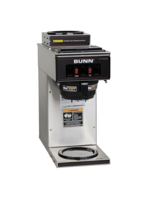 Bunn 13300.0002 / VP17-2 SS Pourover Coffee Brewer, 1 Upper/1 Lower Warmers
