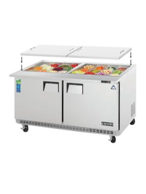 "Everest EOTPW2 60"" Open Top Prep Table, Mega-Top, Two-Section  FREE SHIPPING W/O LIFTGATE"