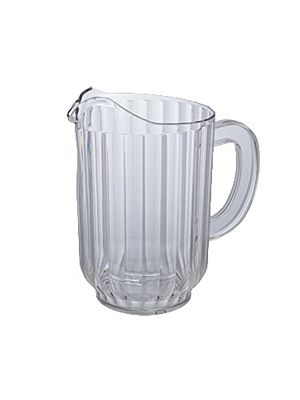 Winco WPC-60 60oz. Plastic Clear Water Pitcher